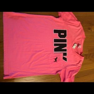 NWT Victoria's Secret Pink tee shirt large